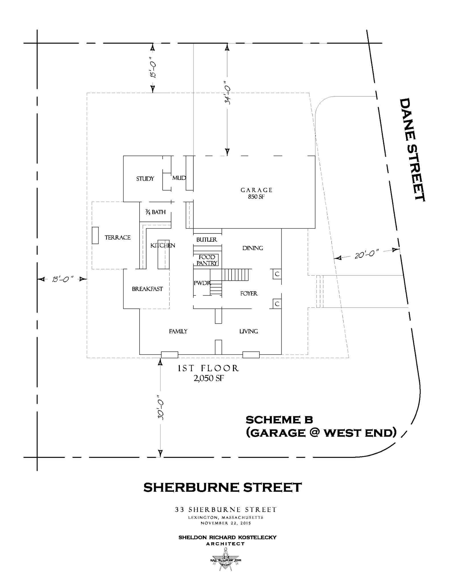 Locating a schematic plan on a lot
