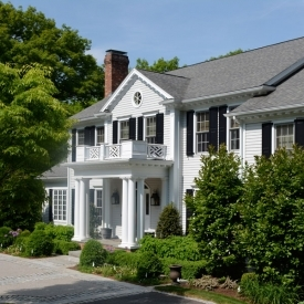 COLONIAL REVIVAL HOUSE IMPROVEMENTS AND POOL PAVILION