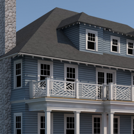 SHINGLE-CLAD COLONIAL REVIVAL